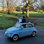Classic Fiat 500 York Wedding Nina & Iain
